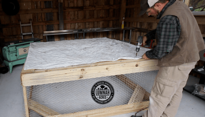 Installing a tarp on the $30 Chicken Tractor in 30 Minutes