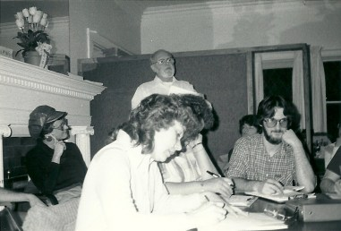 An early LUM Board meeting, basement of Bethany Presbyterian Church, circa 1973