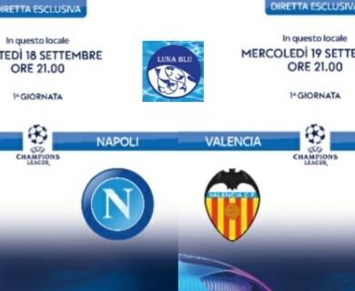 Diretta Champions League al Ristorante Pizzeria Luna Blu Parma