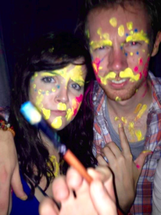 Paint - all over my face!