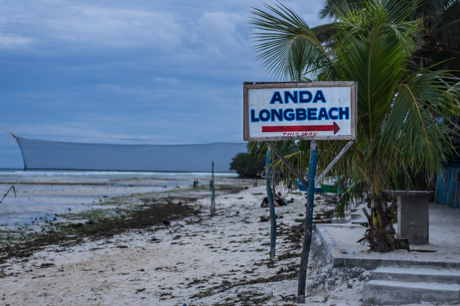 Our accommodation (Anda Longbeach Resort) was literally 30 seconds from the beach.