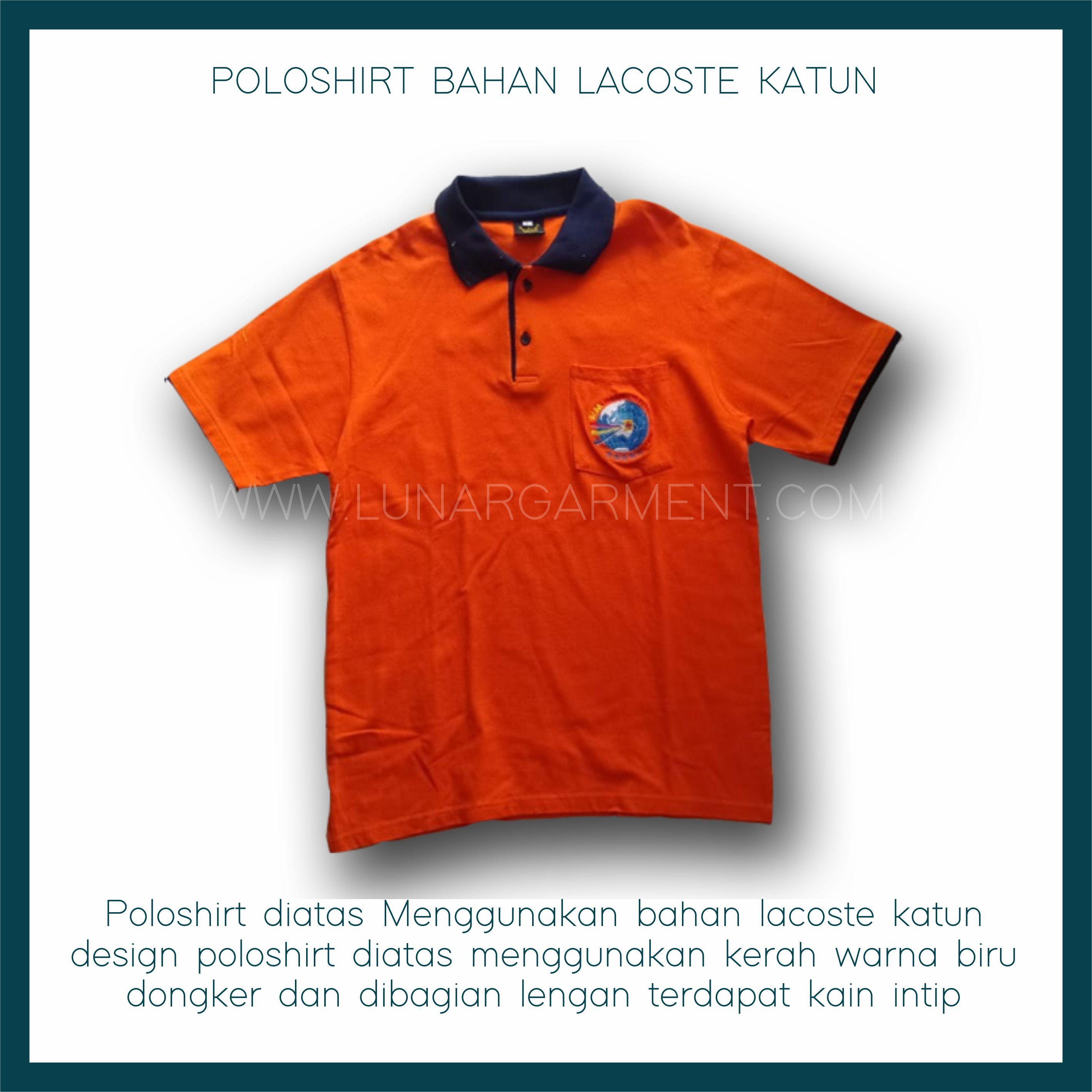 Hasil Produksi Dan Desain Kaos Polo Pt Pln Distribusi Jawa Timur Bahan Lacoste Cotton Lunar Garment Indonesia