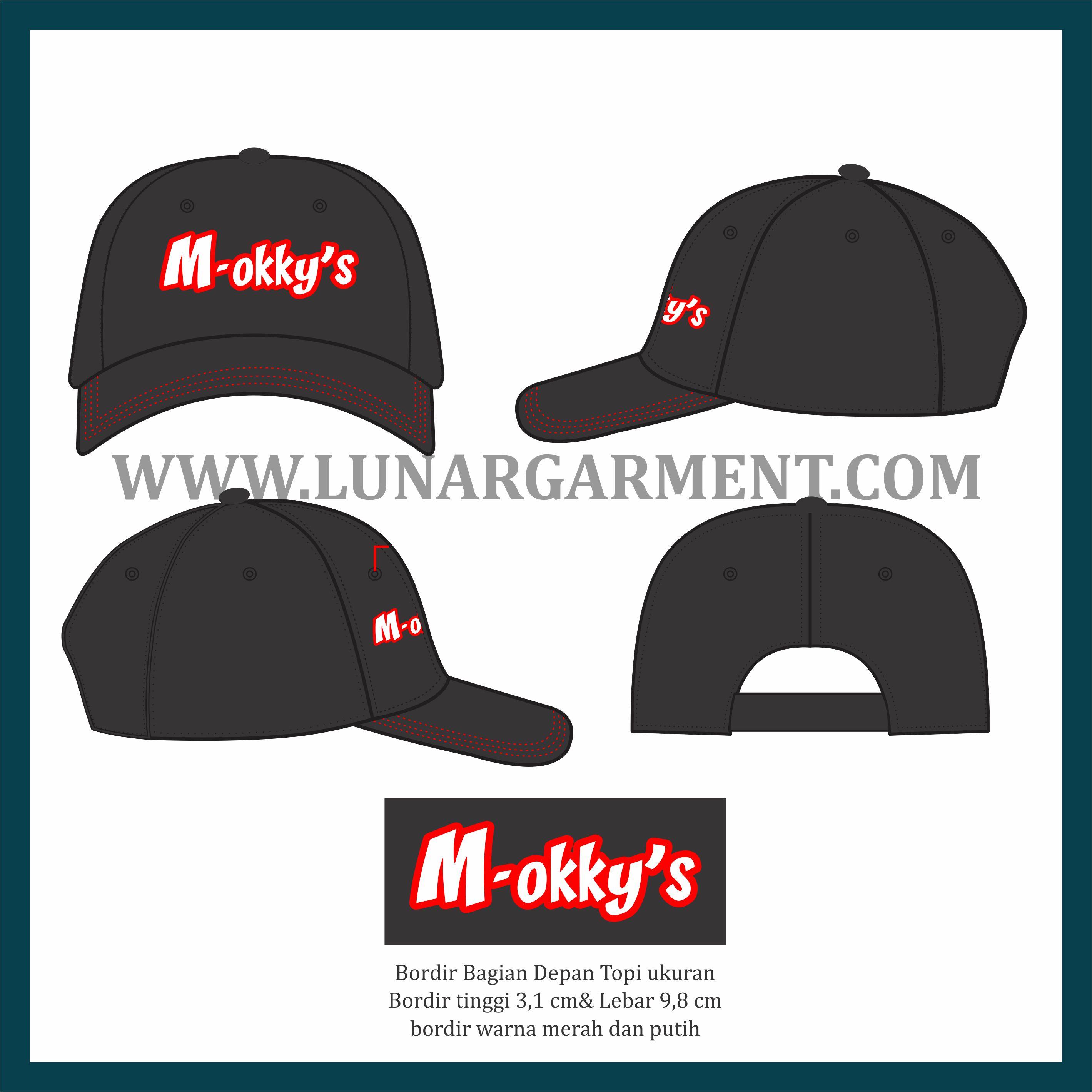 Hasil Produksi Dan Desain Topi M-okky's Bahan Drill