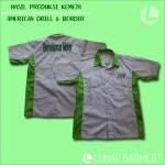 Hasil Produksi Kemeja Berselancar Motor - American Drill & Bordir