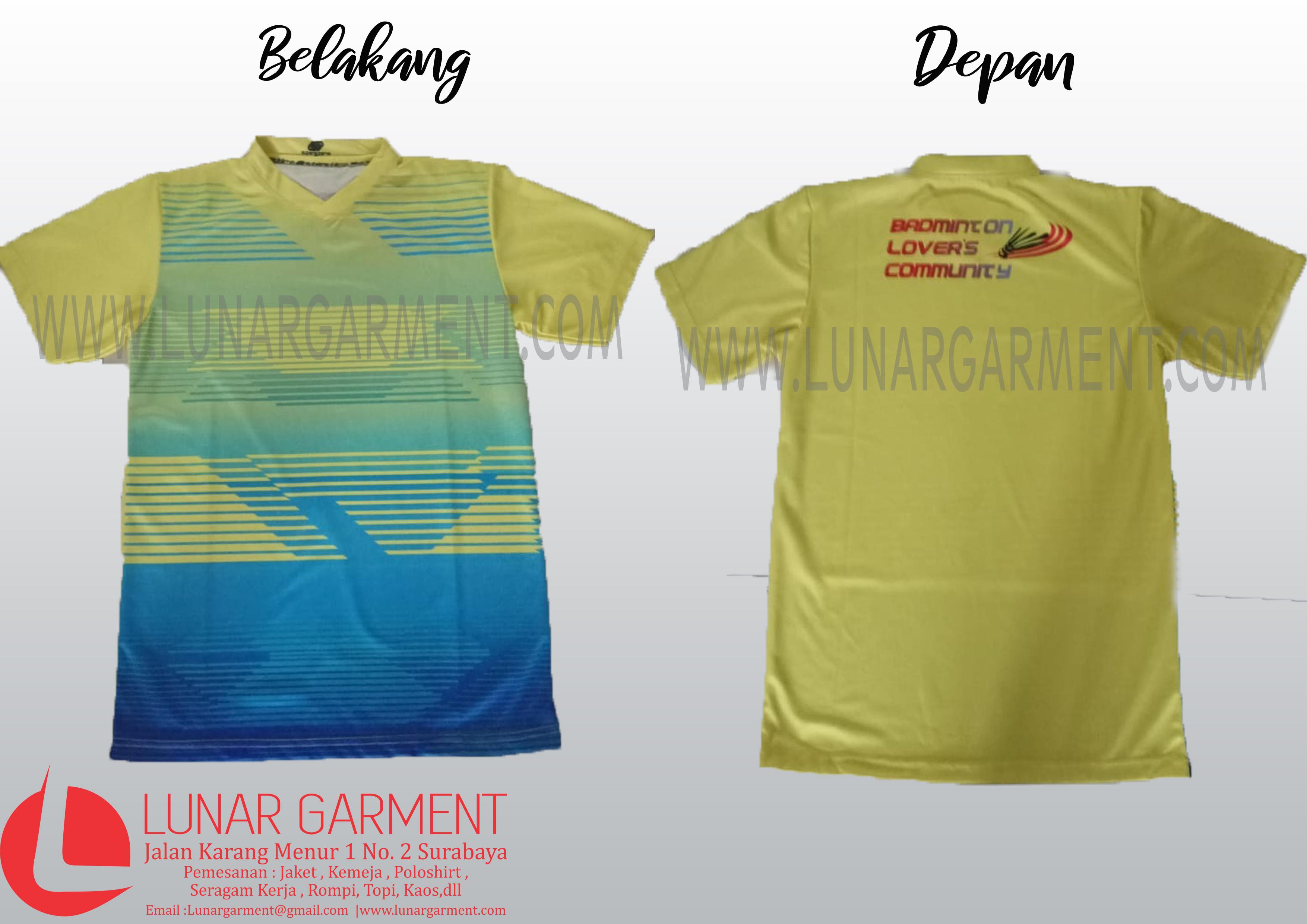 Hasil Produksi Jersey Printing Badminton Community