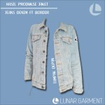 Hasil Produksi Jaket Jeans Denim & Bordir