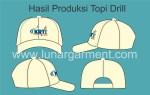 Hasil Produksi Dan Desain Topi Bahan Drill