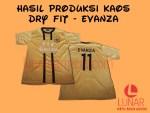 Hasil Produksi Kaos Dry Fit - Evanza
