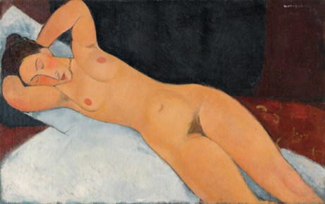 A. Modigliani, Nudo, 1917