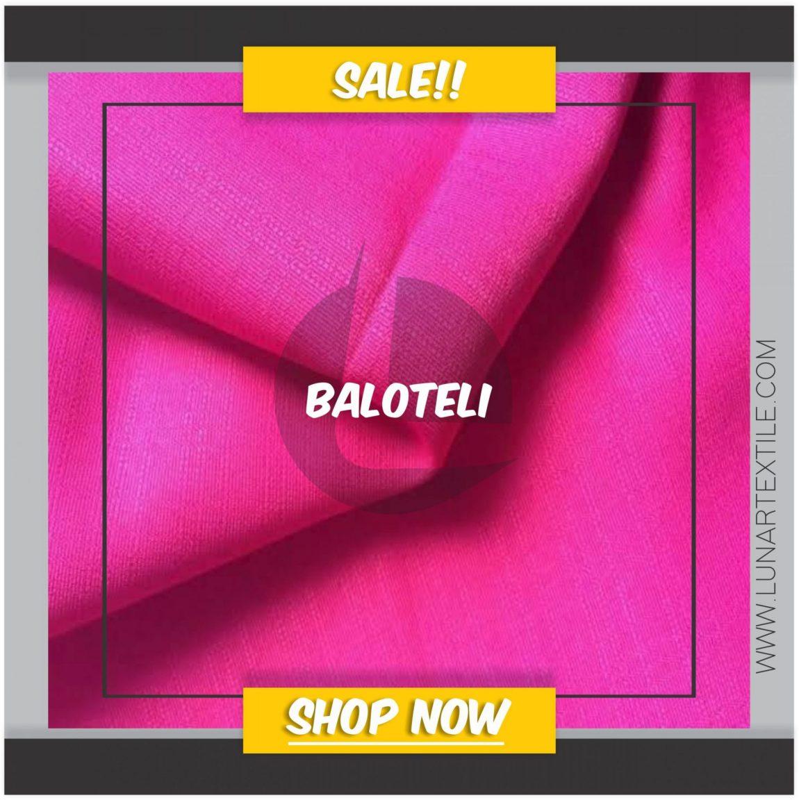 Kain Balotelli adalah sejenis kain yang bahannya cukup tebal dengan tekstur yang sangat khas. Motif atau jenis kainnya membentuk kotak-kotak kecil yang bergaris.
