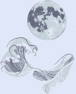 Craniosacral Therapy CEU Training Chicago - Lunar Tide Bodywork Logo of Moon and Waves