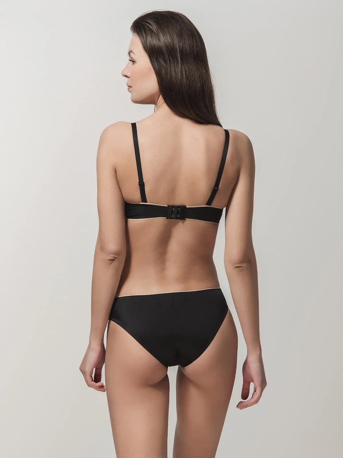 Miracle One 1808 push-up & 2808 brief black back