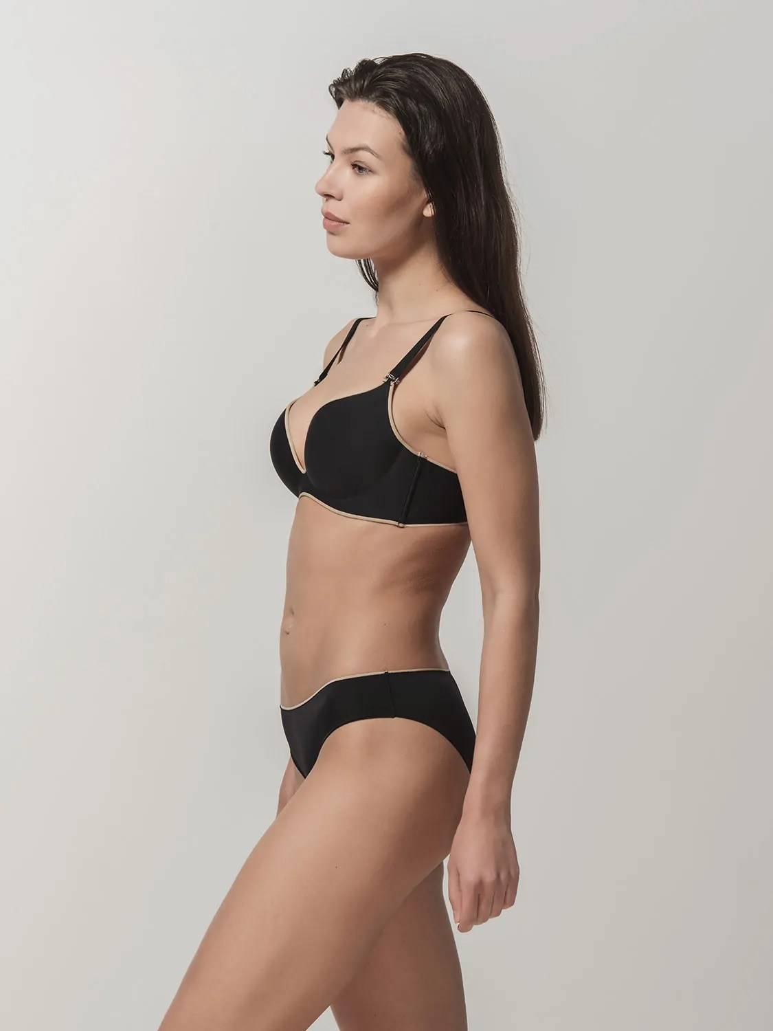 Miracle One 1809 wireless push-up & 2808 brief black side