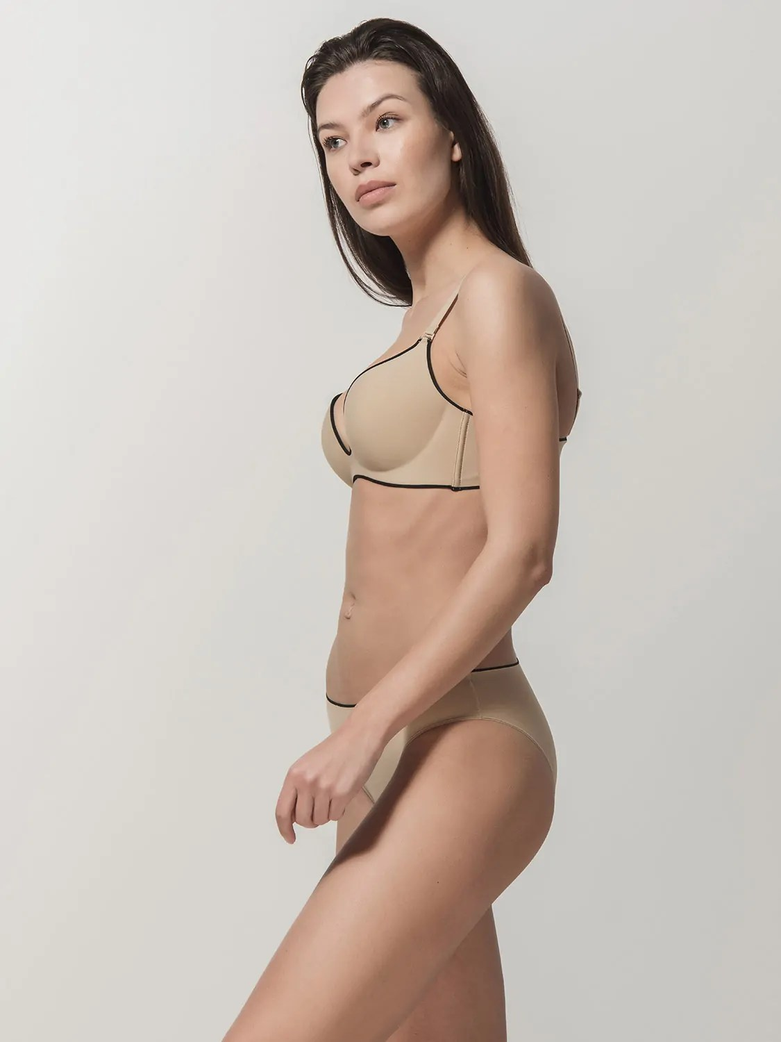 Miracle one 1808 wireless & 2808 brief beige side