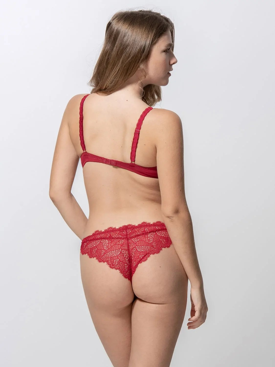 Orchidea 14090 super push-up & 24090 brazilian brief red back