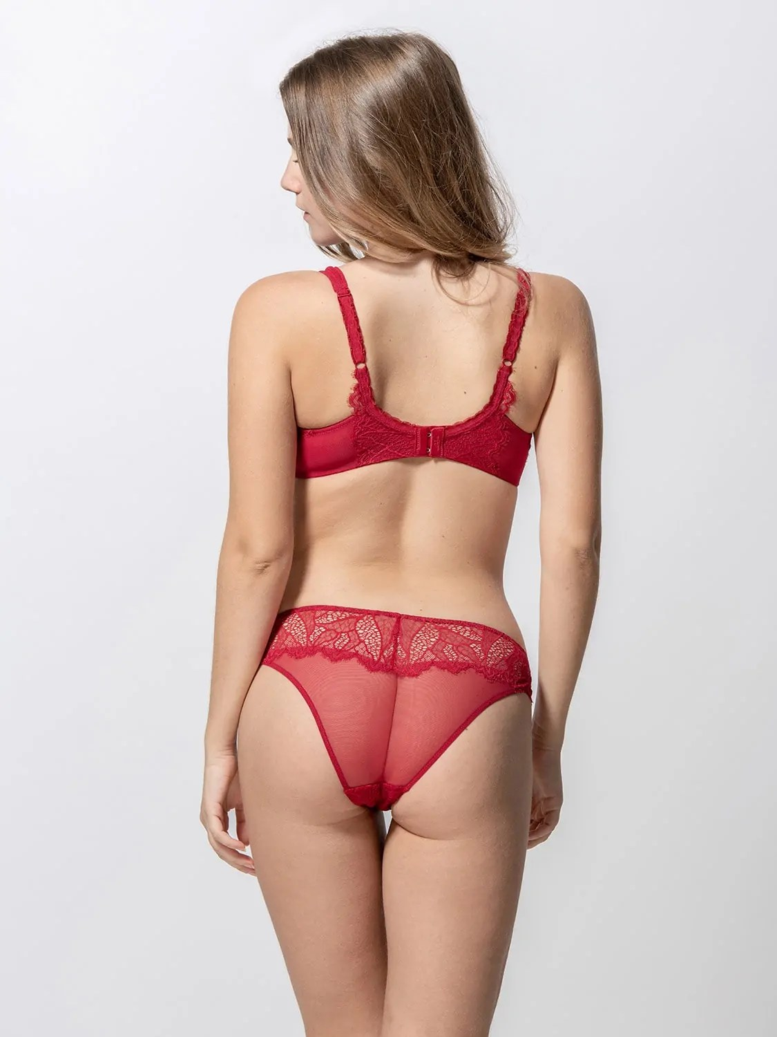 Orchidea 14092 underwired balconetter & 24091 brief red back