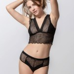 Passion 85001 bralette & 25002 hipster black front