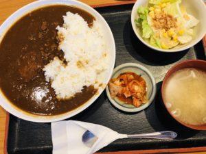 豚牛(とんぎゅう)ダブルハンバーグカレー定食