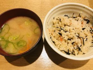 串ひろ 菜の鳥御膳ごはんみそ汁