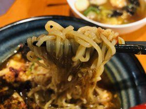 広東ヌードルアピタ新潟西店 麻婆麺 麺リフト