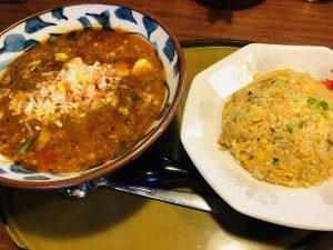 三宝亭 全とろ麻婆麺&炒飯