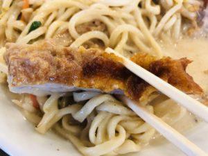 極濃タンメン フタツメ 東明店 パイコー汁につかる
