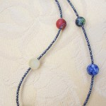 Mixed stones and Hematit, -ss. Collier
