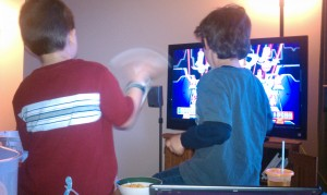JP5 and AGB (aka P1 and P2) -- Friend, Wii, apple juice and goldfish, what more can you ask for??