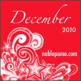 December 2010 - NaBloPoMo Logo