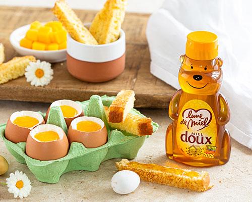 Oeufs de Pâques trompe l'oeil au miel doux Lune de Miel®