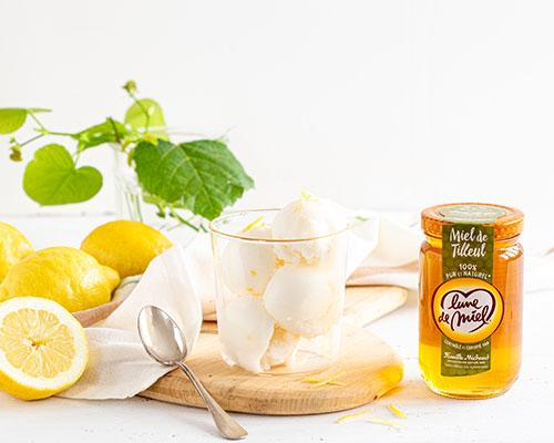 Sorbet citron au miel