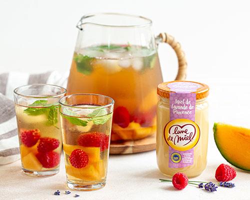 Thé glacé aux fruits et miel de lavande Lune de Miel®