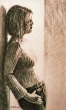 Kirsty. Charcoal