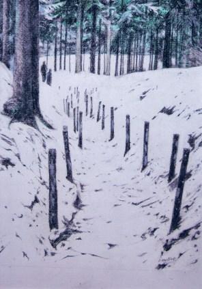 Verdun. Watercolour/charcoal