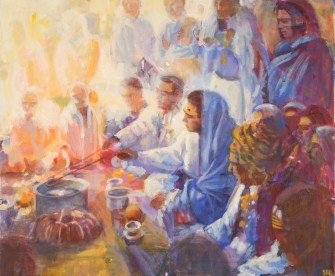Havan, fire purification with Babaji