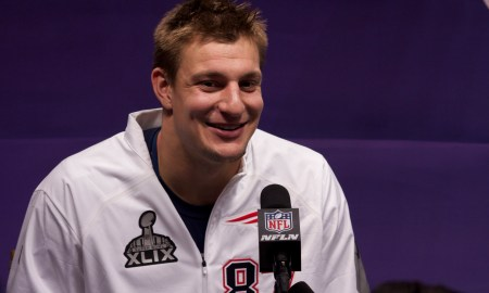 Rob Gronkowski suffers suspected lung puncture. Photo Credit: WEBN-TV