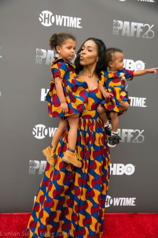 Amina Pankey and daughters attend 'Lalo's House' Red Carpet Screening at Cinemark Baldwin Hills