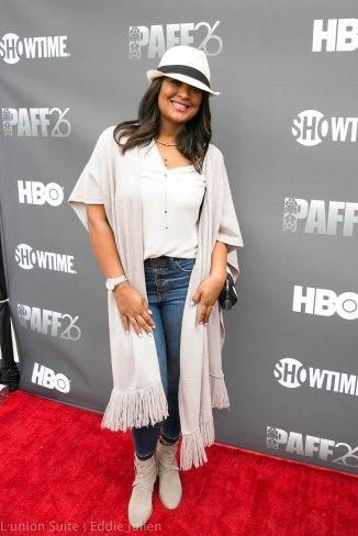 Professional Boxer Laila Ali attends 'Lalo's House' Red Carpet Screening at Cinemark Baldwin Hills Crenshaw