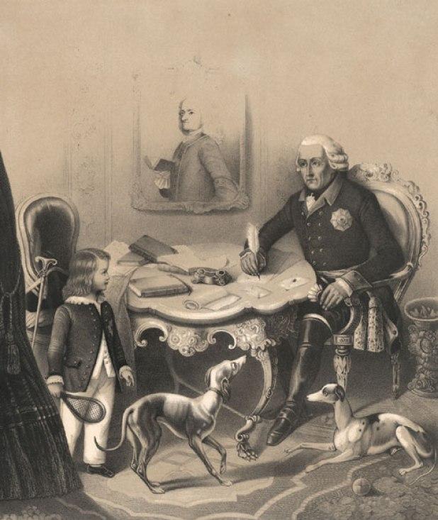 Alkmene, la levrierina preferita del Re