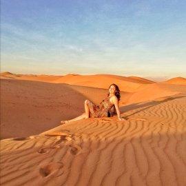 Deserto Wahiba Sand, in cima alle dune