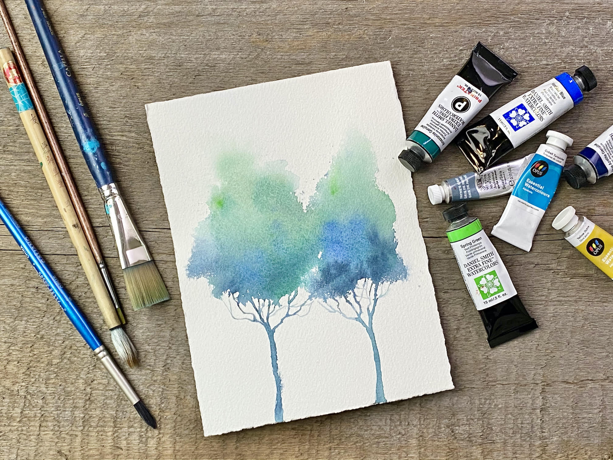 You are currently viewing Trees in Watercolour with Nicole Warrington