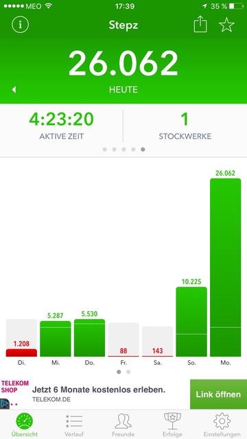 viele Schritte - Montagszeuch
