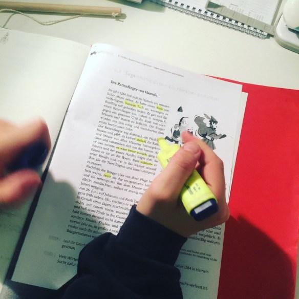 Hausaufgaben, aber husch