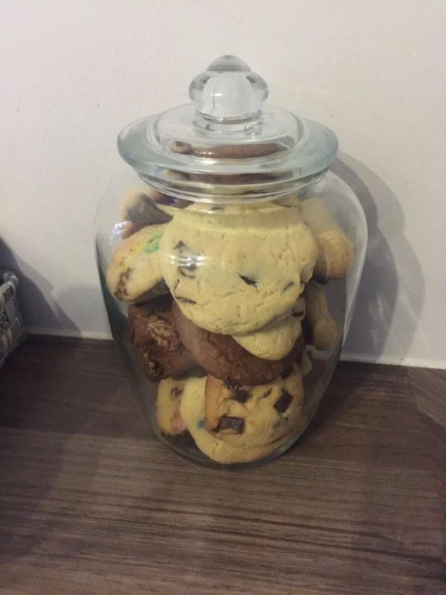 Cookies gebacken - Chocolate Chunks, Walnüsse und M&M's