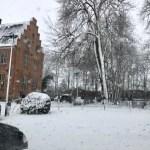 Schnee, Schnee, Schnee, hier Schloss Hagen im Schnee - im März 2018