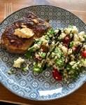Taboule  mit Rumpsteakstreifen - schnelles Essen