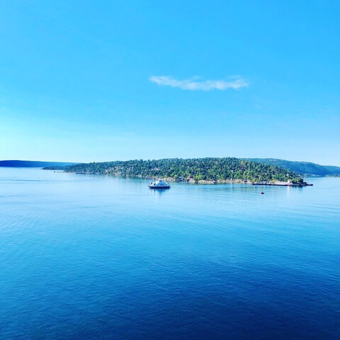 Im Oslofjord - Variationen von Blau