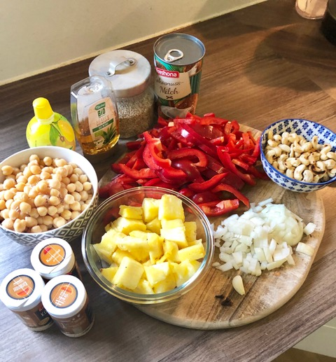 Zutaten Paprika-Curry