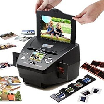 DigitNow! SDカードと写真編集ソフトウェア(10メガピクセル補間)でデジタルファイルにフィルムを保存するための、より高速で簡単な35 mmフィルムスキャナー - 写真、名刺、スライド