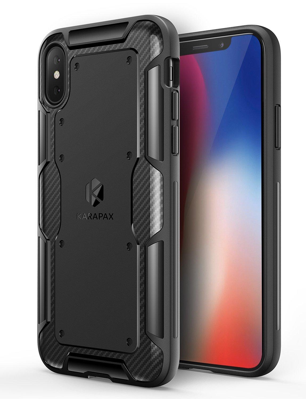 【iPhone X用】Anker KARAPAX Shield 保護ケース ワイヤレス充電対応 (ブラック)